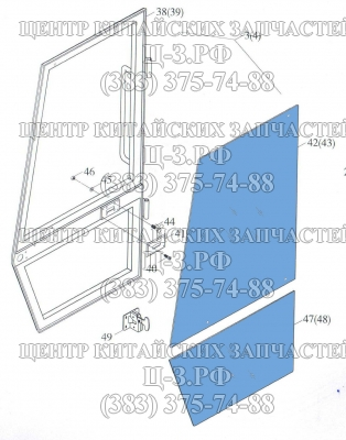 Стекло двери верхнее/нижнее на Foton FL936F, FL935E, XCMG LW300F купить